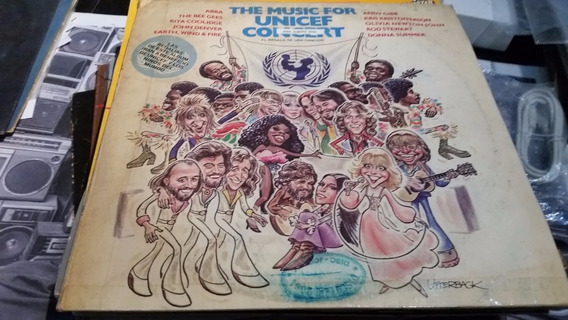 Music For Unicef Concert Stewart Abba Bee Gees Vinilo Lp