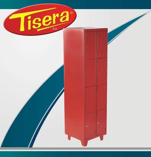 Imagen 1 de 2 de Locker 8 Puertas Metalico Tisera Cerradura Llave Bls-8