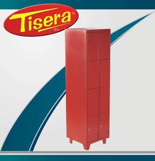 Locker 8 Puertas Metalico Tisera Cerradura Llave Bls-8