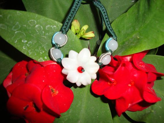 Pulcera Brazalete En Jade Flor