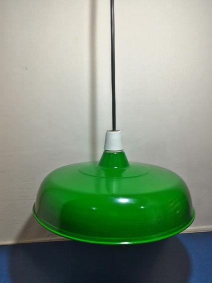 Luminaria Industrial Verde Retro Vintage Sinuca Fio Grosso