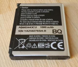 Batería Samsung Ab603443cu - ¡genuina! - Samsung