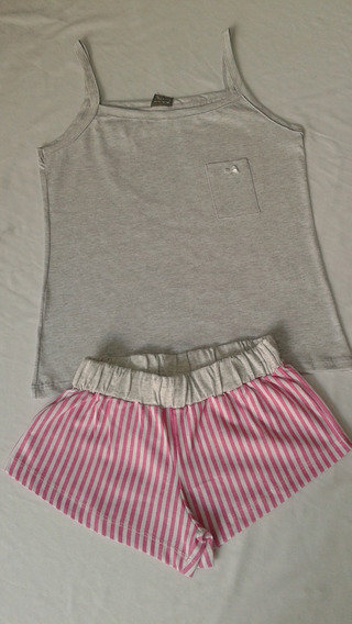 Pijama Feminino Short Dool De Alça 100% Algodão