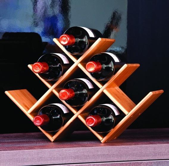 Adega Mesa Jantar Inox Cromada Decoração Vinho Rack 6 Garraf
