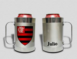 Porta Lata Térmico Alumínio Com Isopor- Flamengo Com Nome