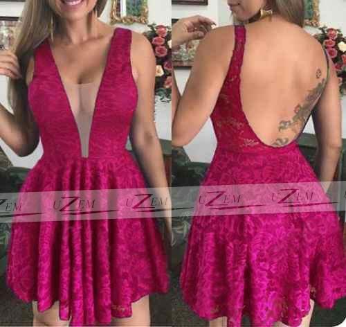 c7225e53e Vestido Feminino S/renda Curto Festa Moda Roupas Baratas - R$ 139,43 em  Mercado Livre