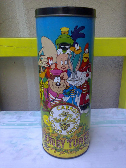 Lata Decorativa Looney Tunes Sgt. Peppers Beatles, Side Play
