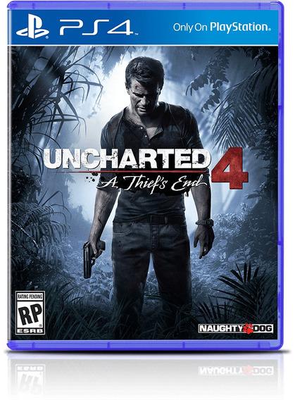 Uncharted 4 - Ps4 - Mídia Física - Novo