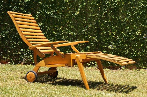 Cadeira De Praia De Madeira Desmontável