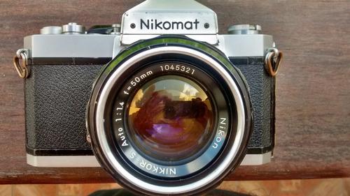 Camera Nikon Nikomat + Lente 50mm 1.4 Ai - Lindo Conjunto!