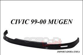 Lip Spoiler Delantero Honda Civic 99 - 00 Mugen Uretano
