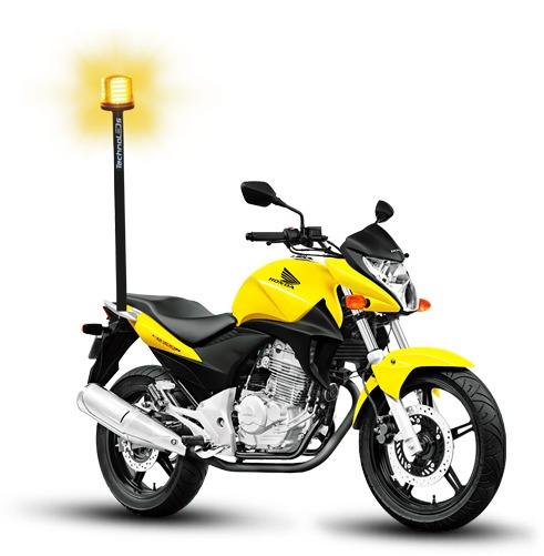 Sinalizador Giroled De Leds Giroflex De Leds P/ Moto 72 Leds