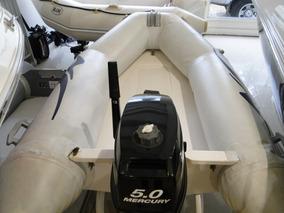 Semirrigido N Y C Con Motor Mercury 5 Hp Marina Uno-