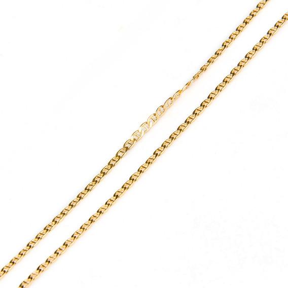Corrente Em Ouro 18k Longo Com Trava 45cm
