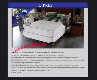Tienda Suite Mendoza Colchón Resorte Cipres 140x190x23
