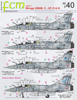 Decal Mirage 2000 Fcm 1/48 Decalque Brasil Peru França