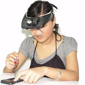 Lupa De Cabeça 2led E 4 Lentes Pra Eletrônico Joalheiro Etc