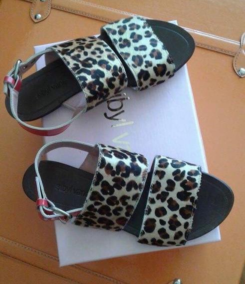 Zapatos Sandalias Chatas Sibyl Vane Cuero