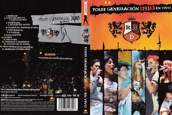 Dvd Lacrado Rbd Tour Generacion En Vivo
