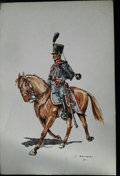 Antigua Postal Soldado Uniforme Militar Holandés