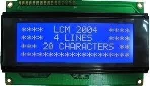 3un Display Lcd 20x4 Back Azul P/ Pic Arduino