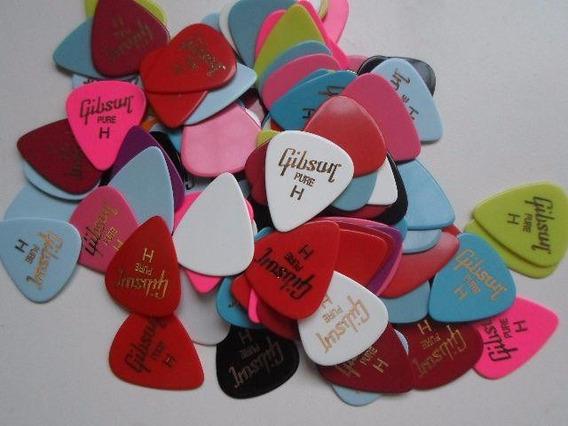 45 Palhetas Gibson Guitarra, Violão, Baixo, Cavaquinho H-m-l