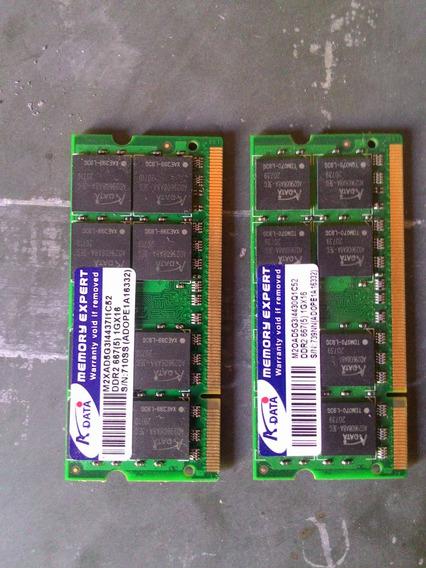 Memoria Ram Ddr 2 2 Gb 1 Gb Cada