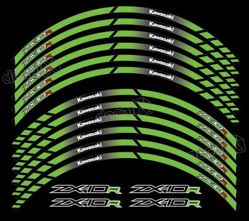 Adesivo Friso Refletivo Roda Moto Kawasaki Zx10r Zx 10 Fri72