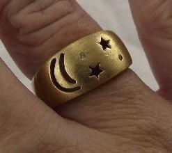 Anel Lua E Estrelas Da Vivara Aro-16 3,85-gramas