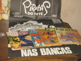 Piratas Do Tietê Laerte Lote C 6 Edições Com Poster De Banca