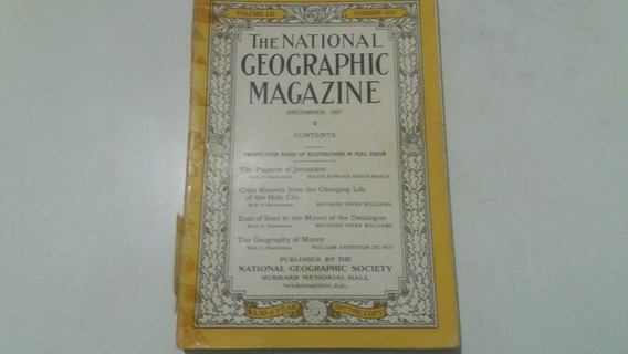 National Geographic Revista Antiga Dezembro De 1927 Rara L0