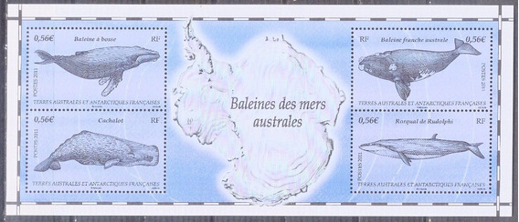 C@- Francia - Antartida - Ballenas - Hermosa Hojita Mint -