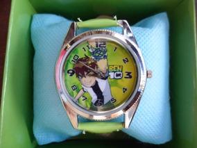 Relógio Infantil Ben 10 Analógico Com Bateria Frete Gratis