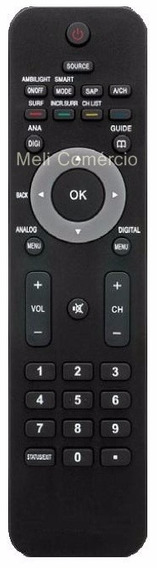 Controle Remoto Tv Lcd Philips 42 Pfl 7803d 52 Pfl 7803d