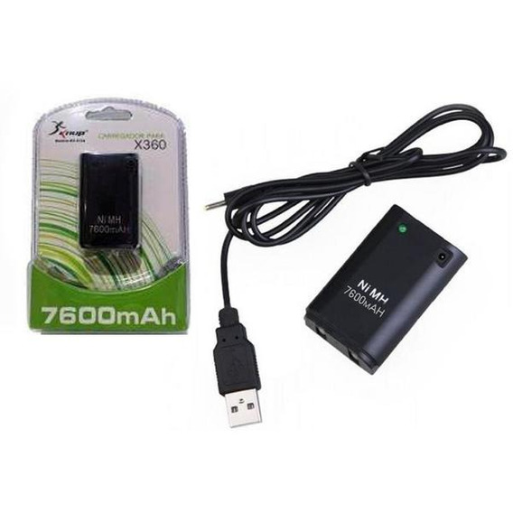 Bateria Para Cont Xbox 360 7600mah Kp-5124 Kp-5124 Ad0148