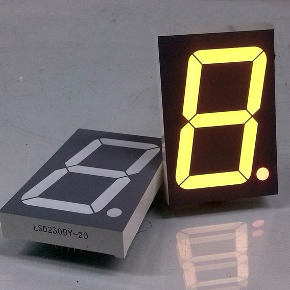 5 Displays Led 7 Segmentos 2,3 Am. An. Comum Lsd230by-20