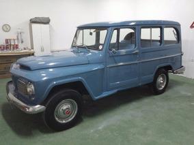 Rural Willys 4x4 Placa Preta Para Colecionadores