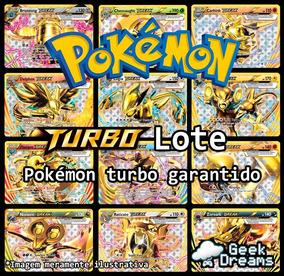 Kit Lote De 50 Cartas Pokémon + Turbo + Lendário + Brinde