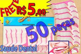 50pc Higiene Bucal Dentes Floss Pick Fio Dental Lote Blister