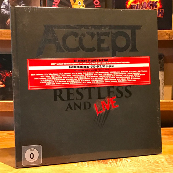 Accept Restless And Live Blu Ray 2 Cd Dvd Earbook