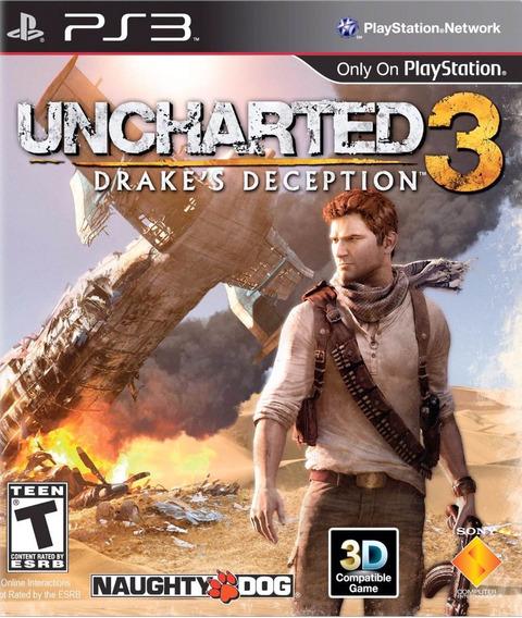 Uncharted 3 Ps3 Mídia Física | Com Nf E Garantia Playgorila