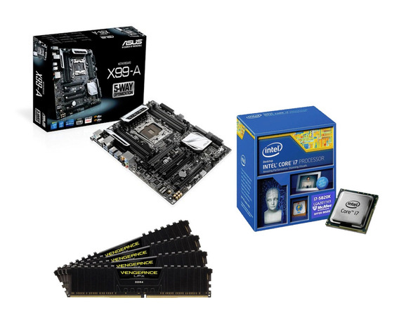 Kit Extreme: X99 + I7 5820k + 16gb Ddr4 * À Vista 3.950