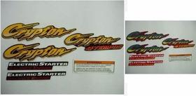 Kit Adesivo Carenagem Crypton 100 Ano 2001  Pm