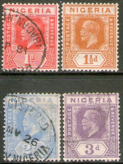 Nigeria 4 Sellos Nuevo Y Usados Rey George 5° Años 1921-31
