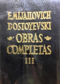 Libro F Mijailovich Dostoyevski Obras Completas Vol3 Aguilar