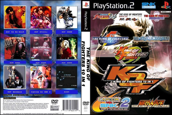 Dvd 10 In 1 The King Of Fighters Coleção Ps2 - Playstation 2