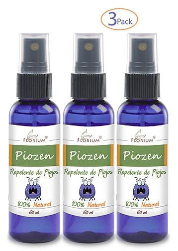 Piozen Repelente Para Piojos 3 Pack Florium