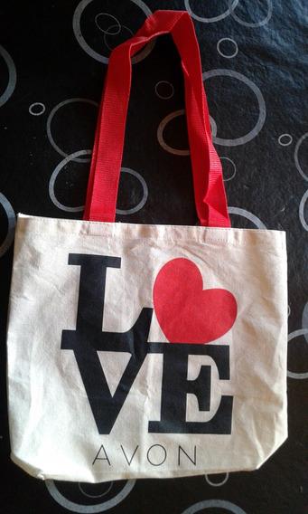 Bolsa De Tela Love Avon