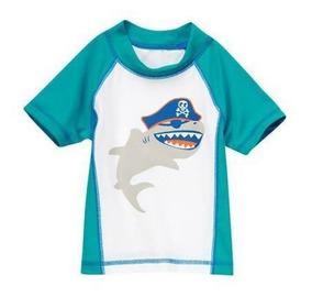 Camiseta Banho Praia C/ Protecao Solar 50 Crazy8 Tam 12-18 M