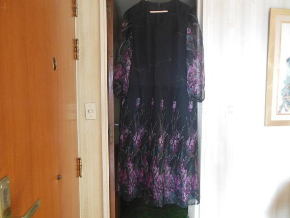 Vestido De Fiesta Largo De Gasa De Seda Natural Muy Elegante